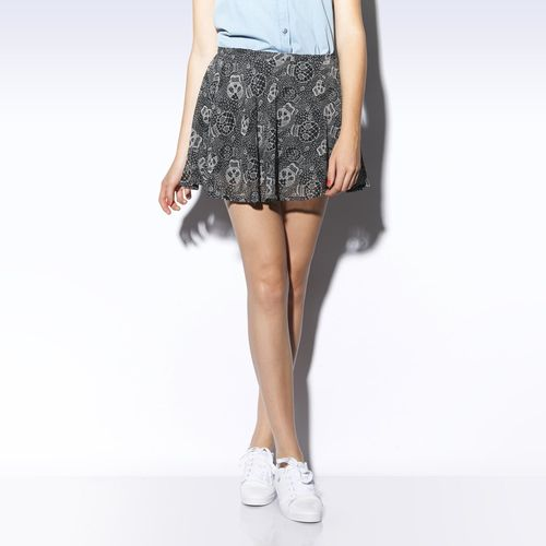 Selena Gomez printed lace skirt