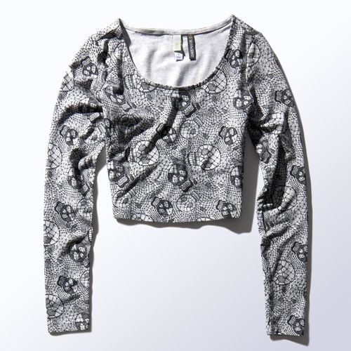 Selena Gomez printed lace top