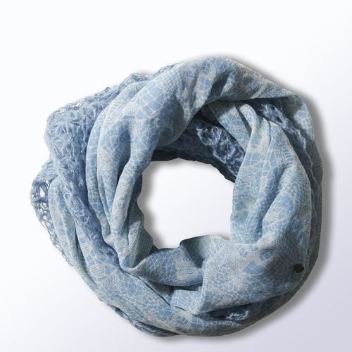 Selena Gomez Lace Snood - blue