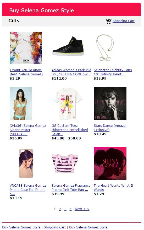 Buy Selena Gomez Style Store