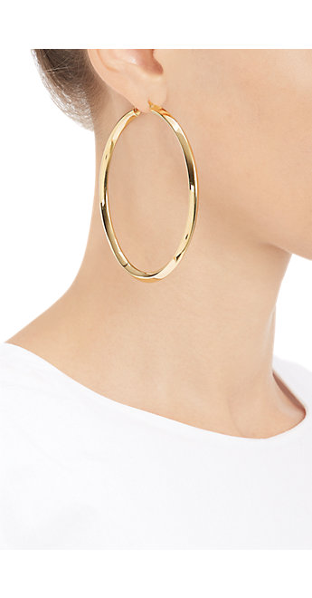 Fallon Diamond Edge Hoops