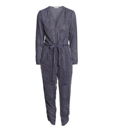 H&M Textured Jumpsuit