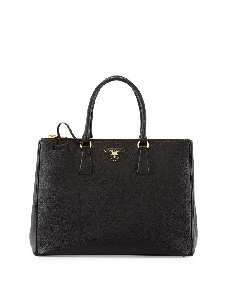 Prada Saffiano Medium Executive Tote Bag, Nero