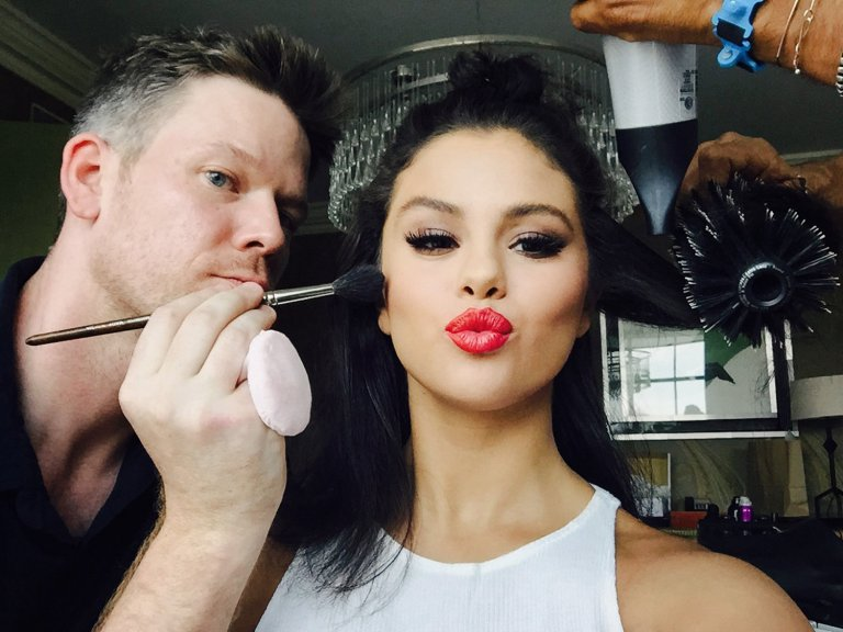 Jake Bailey and Renato Campora prepare Selena Photo: Selena Gomez