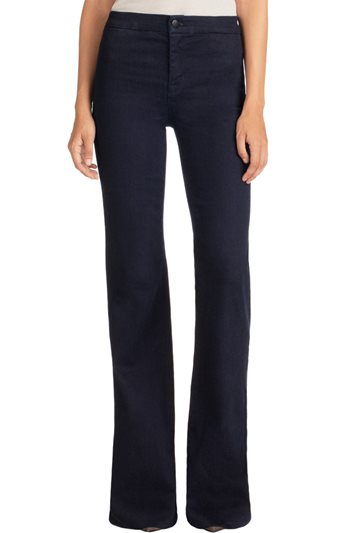 J Brand 2387 TAILORED HIGH-RISE FLARE inkwell
