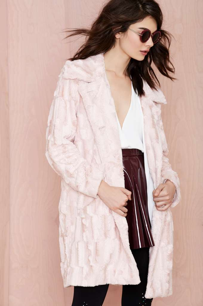 Nasty Gal candy girl faux fur coat