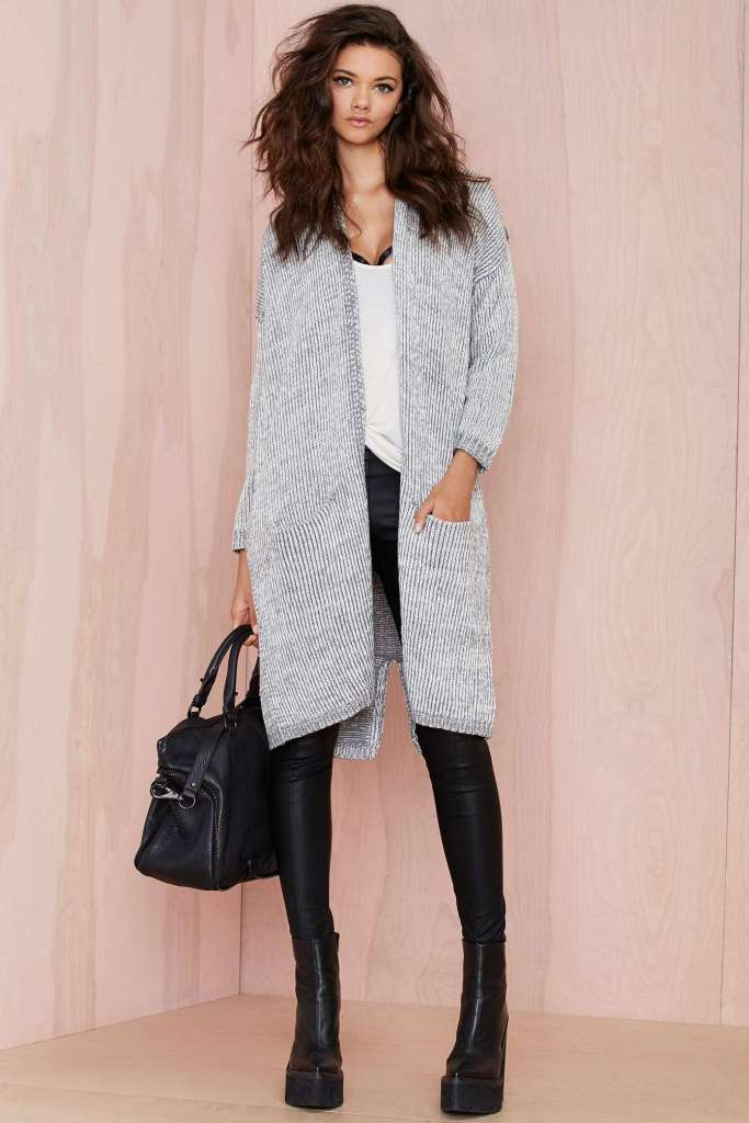 Nasty Gal oversized cardigan