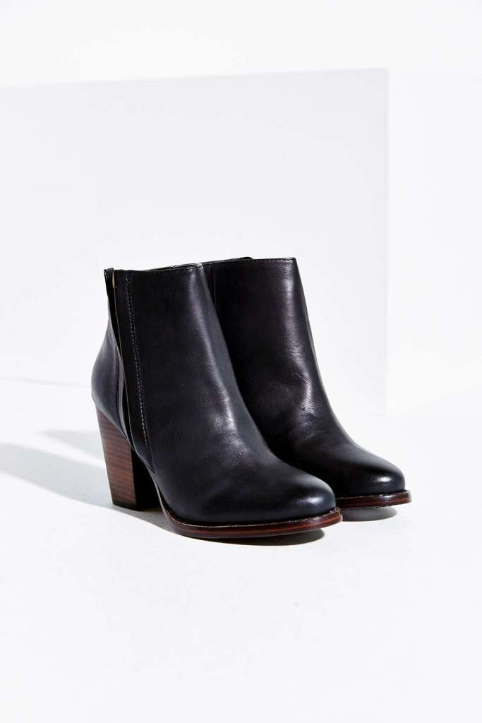 Silence and noise half-stacked heeled ankle boot