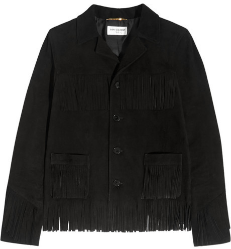 Saint Laurent fringe suede jacket