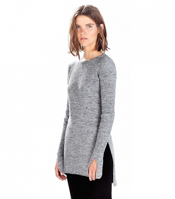 Zara ribbed sweater with side slits
