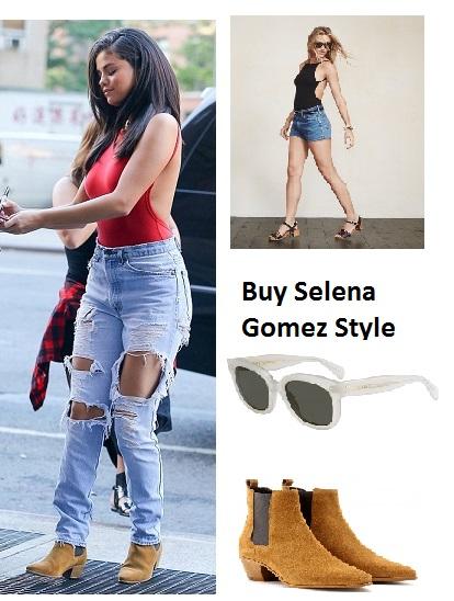 Selena Gomez red bodysuit instagram