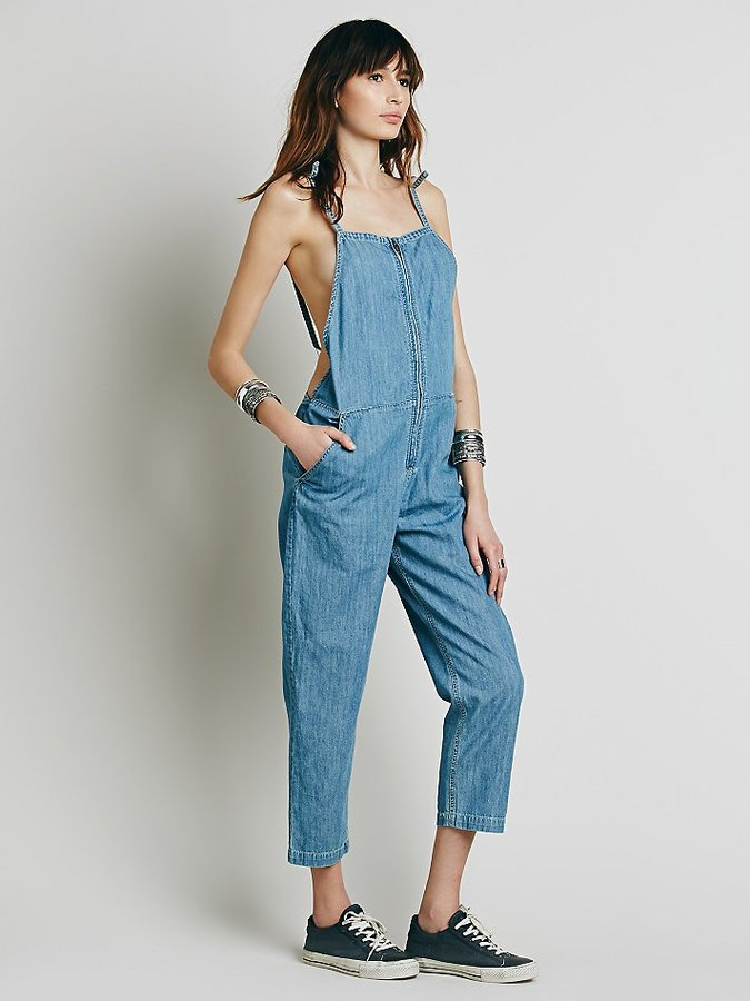 Free People Chambray Shapeless One Piece