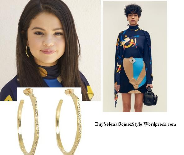 Selena Gomez blue abstract top instagram