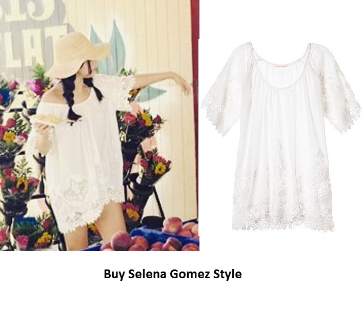 Selena gomez white lace top instagram