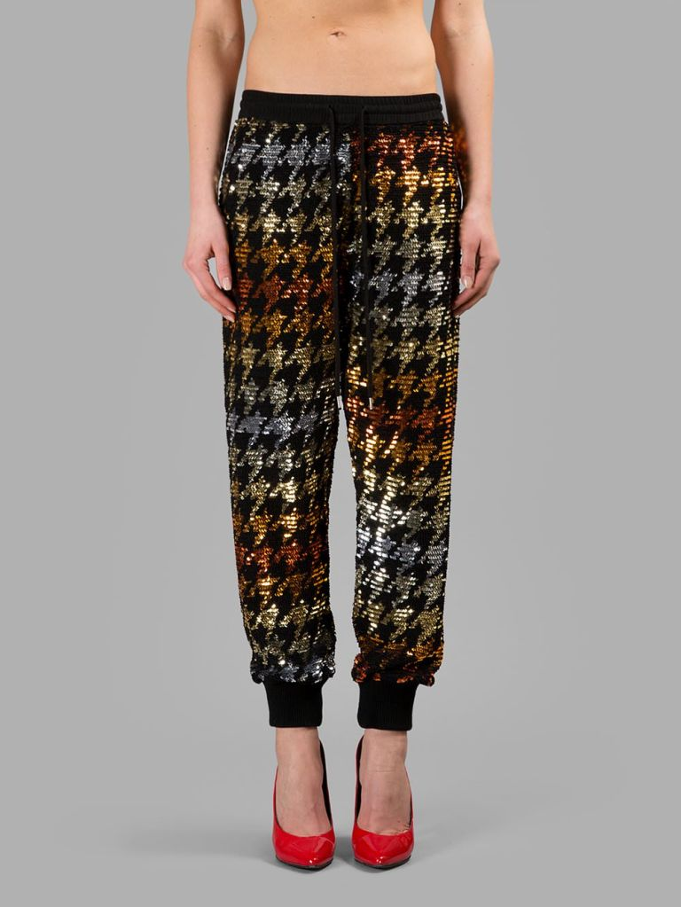 Ashish Multicolour Houndstooth Sequin Jogger