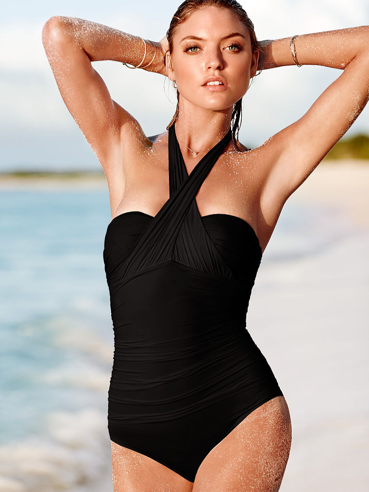 Victoria's Secret crossover halter one-piece