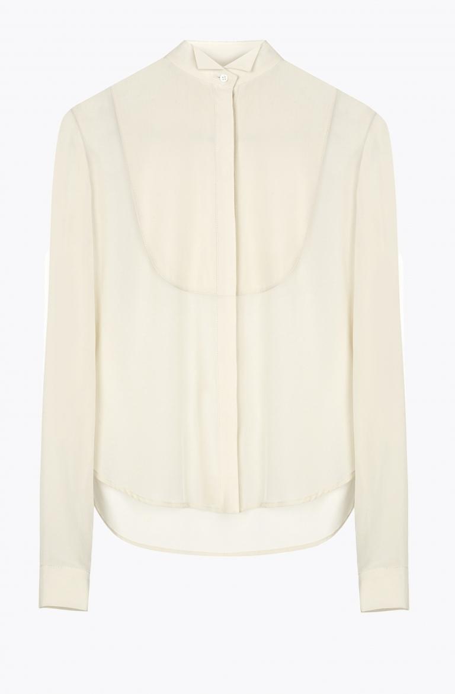 Atea Oceanie Silk Crepe Tuxedo Shirt