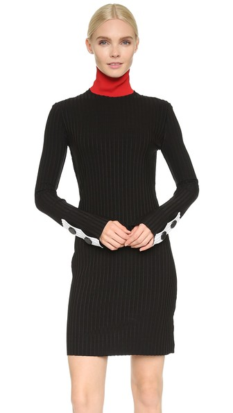 EDUN ribbed turtleneck dress