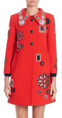 Marc Jacobs 34 Sleeve Embellished Coat