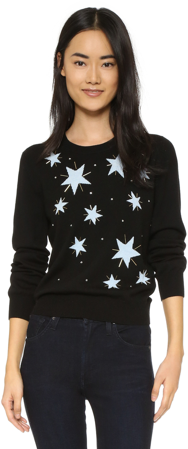 Markus Lupfer Star Embellished Grace Sweater
