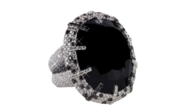 Martin Katz black diamond ring