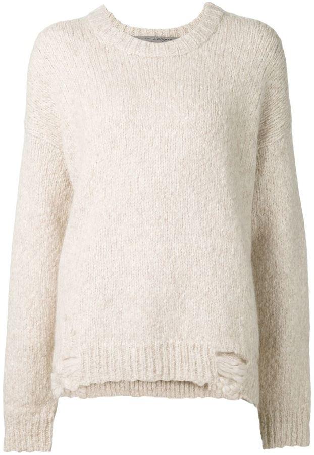 Raquel Alegra Distressed Oversized Sweater