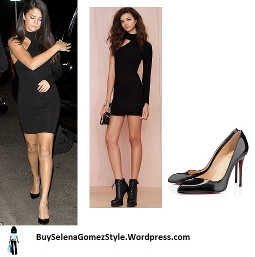 selena-gomez-black-bodycon-dress-instagram