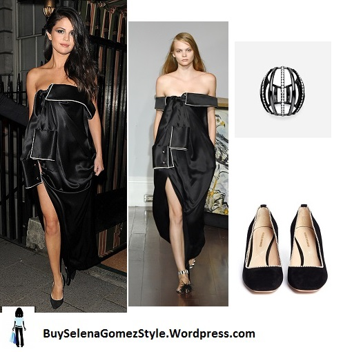Selena Gomez black dress annabels London