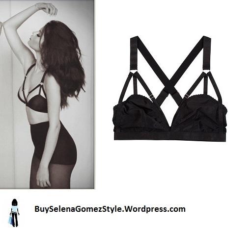 Selena Gomez caged strappy bra instagram