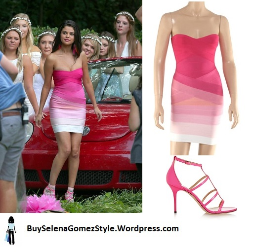 Selena Gomez pink dress Neignbors 2 instagram
