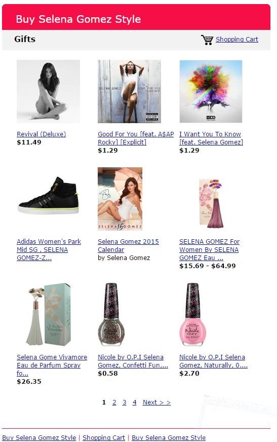 Selena Store September 2015