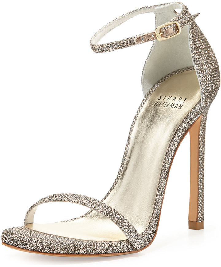 Stuart Weitzman 'Nudist' ankle-strap sandals
