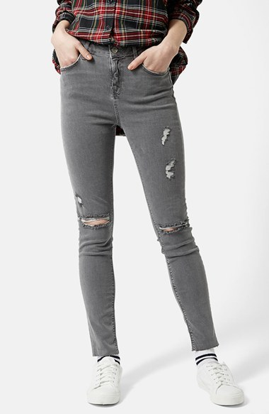 Topshop Moto 'Jamie' Ripped Skinny Jeans