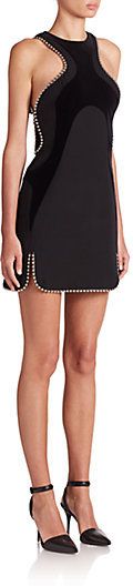 Alexander Wang Ball-Chain Accent Panelled Dress