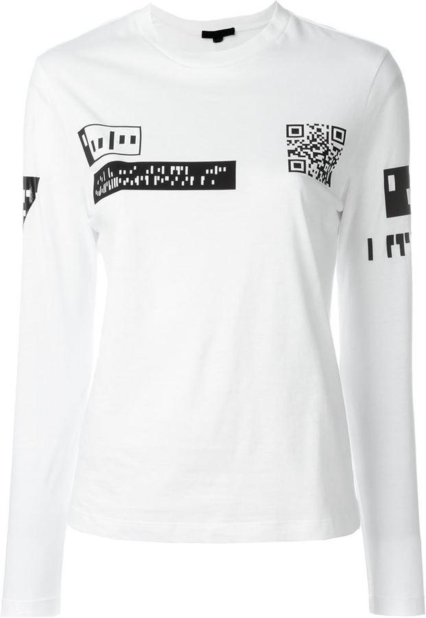Alexander Wang QR Code Print T-shirt