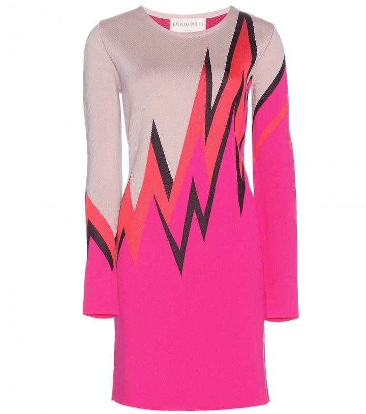 Emilio Pucci Printed Wool-Blend Dress