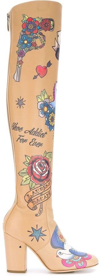 Laurence Dacade Tattoo Knee Length boots