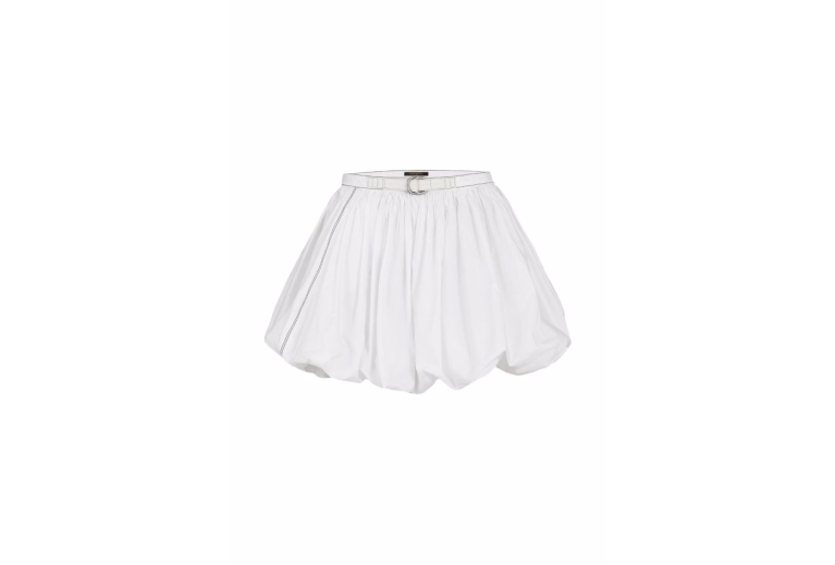 Louis Vuitton Washed Cotton Poplin Bubble Skirt