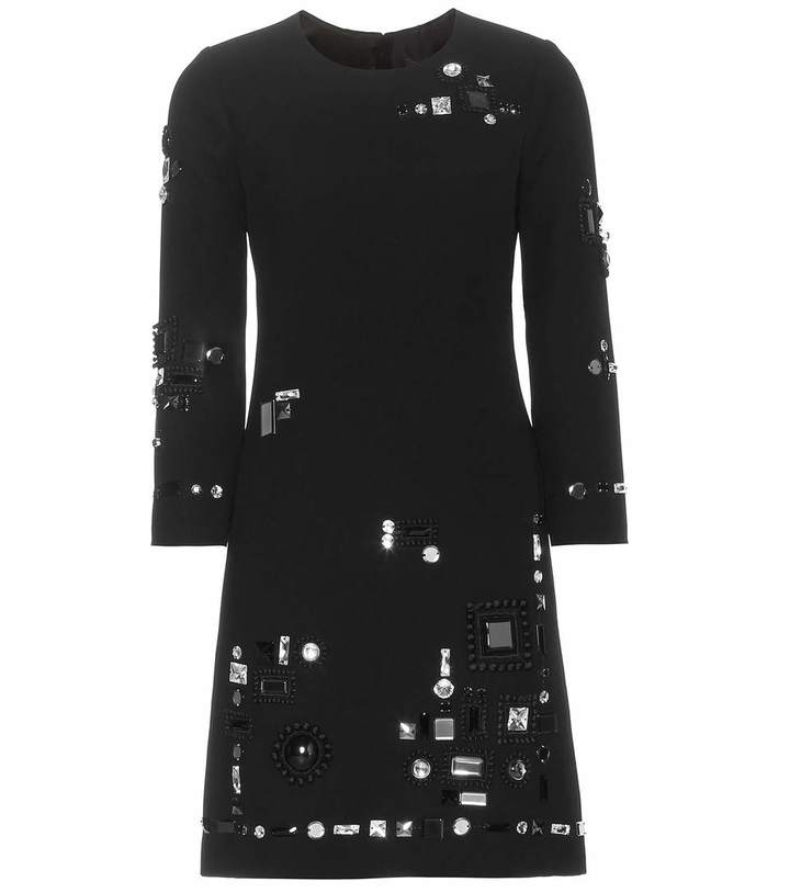Marc Jacobs Embellished Crepe Dress