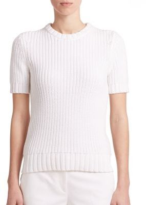 Michael Kors Ribbed Cotton Sweater Top