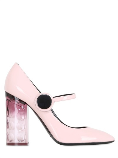 Nicholas Kirkwood 105mm Carnaby Patent and Plex Pumps