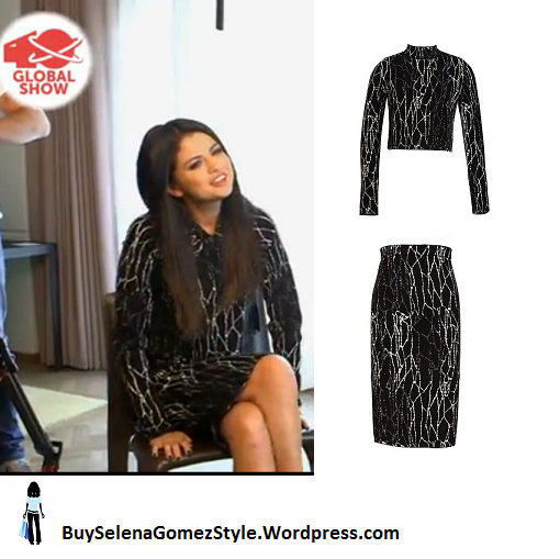 Selena Gomez black and silver dress 40 Global show Instagram