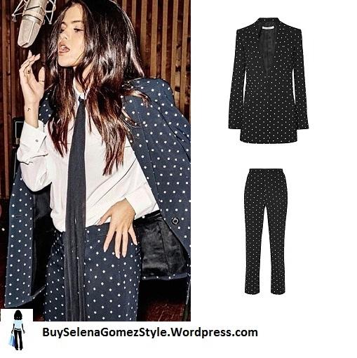 selena-gomez-black-and-white-spot-suit-grazia-instagram