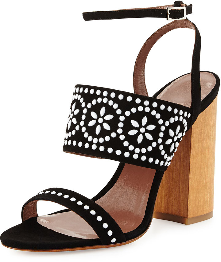 Tabitha Simmons Blaze Beaded Suede Sandals