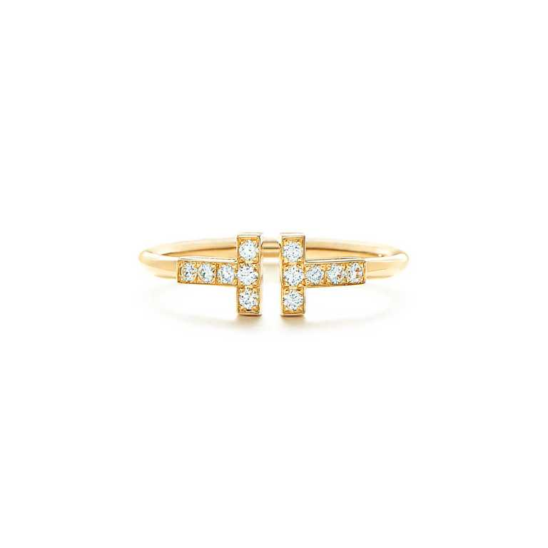 Tiffany T Wire Ring with diamonds