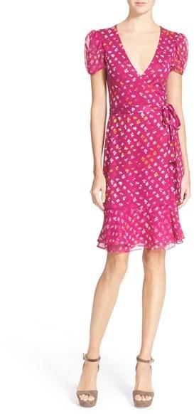 Diane Von Furstenberg 'Layton' Floral Print Silk Wrap Dress
