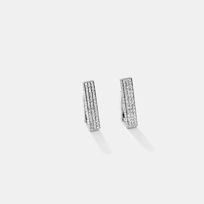 Maison Dauphin Collection II white gold white diamond earrings