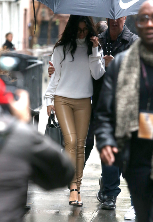 Selena Gomez beige pants white turtleneck victorias secret