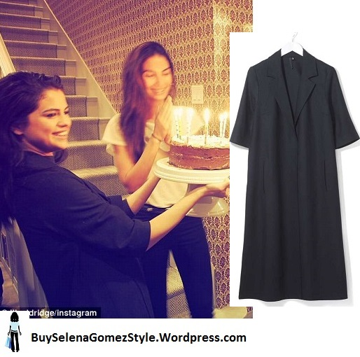 Selena gomez black duster birthday cake  lilyaldridge instagram