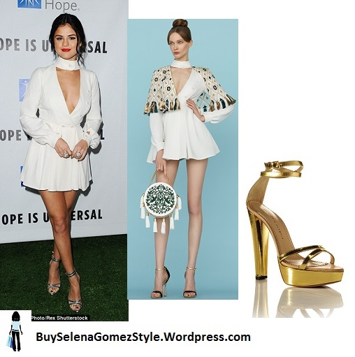 Selena gomez City of hope 2015 white bodysuit Instagram